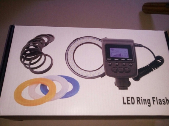 Flash Macro Ring Rf-650/led Filmagens + Lens Pen + Brindes +