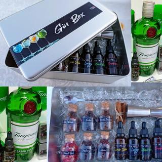 Kit Gin Tanqueray Especiarias Xaropes Em Metal