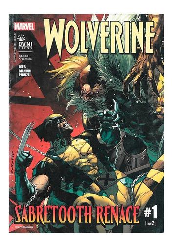 Wolverine Sabretooth Renace - #1 De 2 - Ovni Press - Loeb