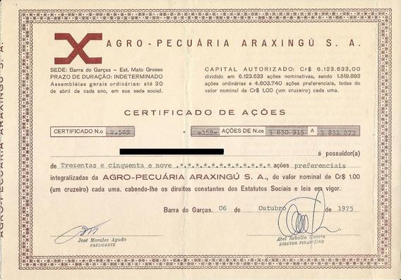 Apólice Agro-pecuaria Araxingú S.a.