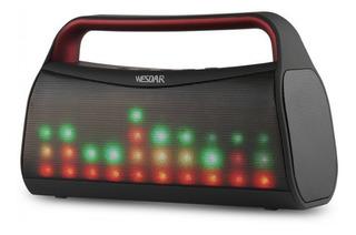 Parlante Luces Led Wesdar K20 Fm Bluetooth Aux Usb Sd