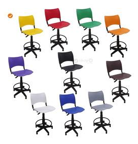 Cadeira Caixa Iso Giratória Secretária Alta.