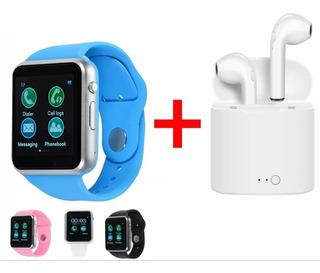 Reloj Inteligente Smartwhatch A1 + Audífonos Wireless I7s