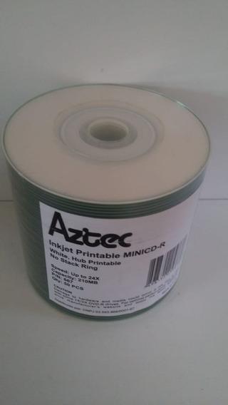 Cd-r Aztec Printable C/50 (mini) + Capa Cristal C/50 Mini