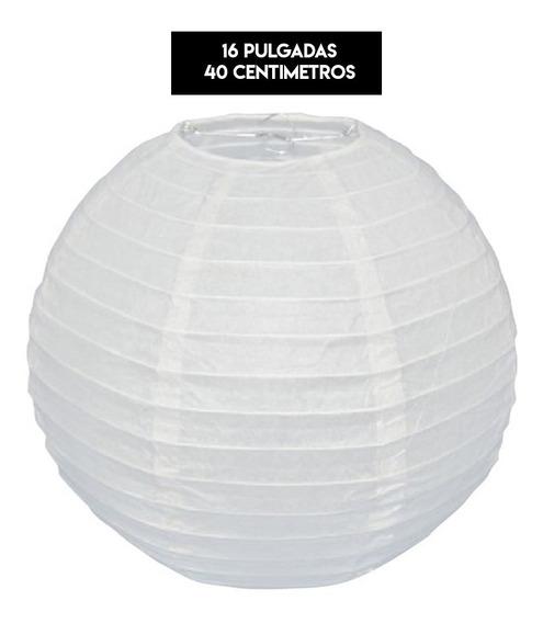 10 Lamparas Chinas 40 Cm Grandes Blancas Bodas Xv Bautizos
