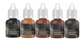 Kit C/ 5 Pigmentos Eletric Ink 8 Ml P/ Micropigmentação
