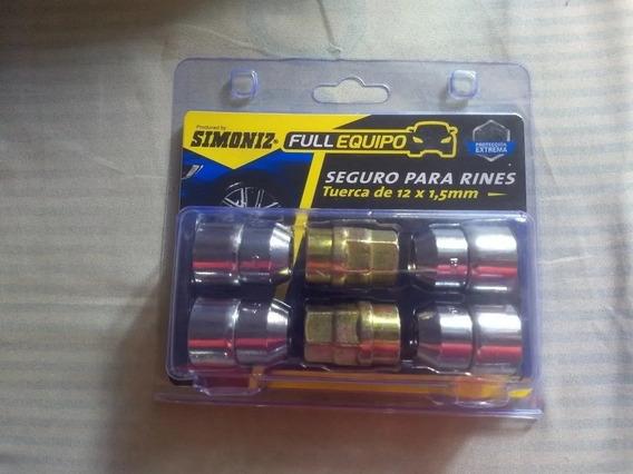 Juego De Tuercas De Seguridad Rines 12mm Paso1.5 Simoniz/tkc