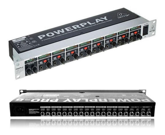 Powerplay Amplificador Fones Ha8000 Behringer Bivolt