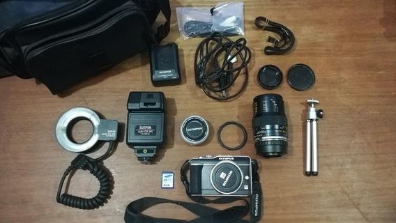 Camara Digital Olympus Pen E-pl1 +lente Micro+lente Macro