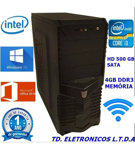 Cpu Completa Core I3 3g/4gb Ddr3 /hd 500gb /wifi