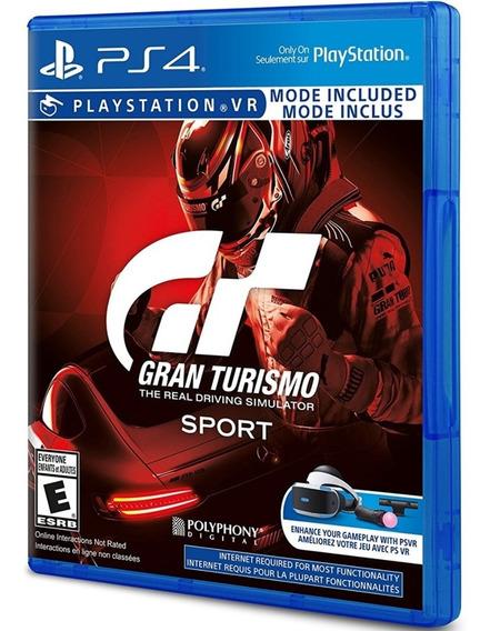 Game Gran Turismo Sport Ps4 Midia Fisica Novo Corrida Barato