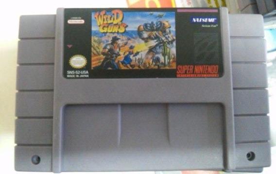 Fita Wild Guns Jogo Snes Super Nintendo Original Repro Leia