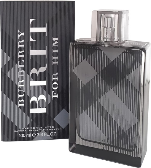 Perfume Masc Burberry Brit For Him Edt 100ml Brinde Amostra