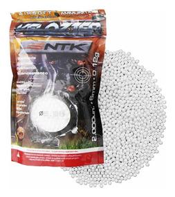 Munição Esferas Bbs Airsoft Ntk Velozter 0,12g 6mm 2000un.