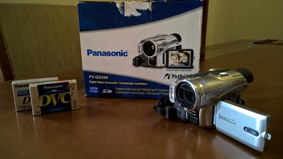 Filmadora Profissional Panasonic Gs200 3ccd Minidv Incrivel!