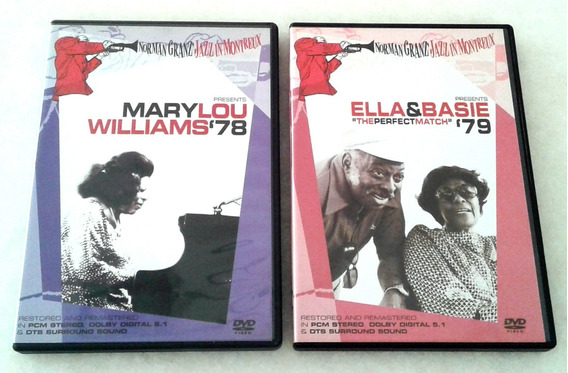 Dvd Pacote Mary Lou Williams, Ella Fitzgerald & Count Basie