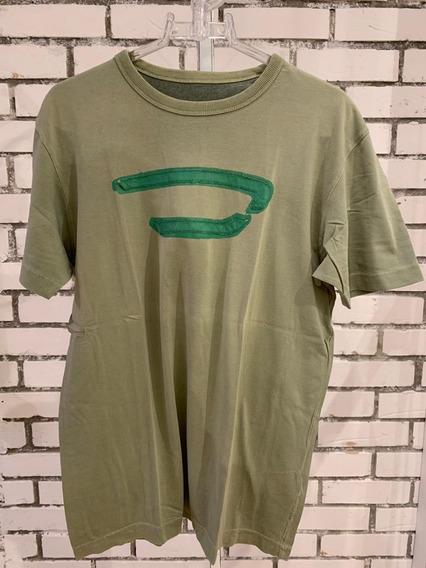 Camiseta Diesel Masculino Verde Militar