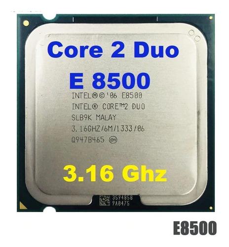 Processador Intel Core 2 Duo E8500  3.16ghz + Pasta Térmica