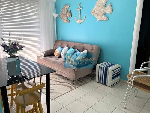 Imagem 1 de 19 de Apartamento Com 1 Dormitório À Venda, 40 M² Por R$ 190.000,00 - Aviação - Praia Grande/sp - Ap0179