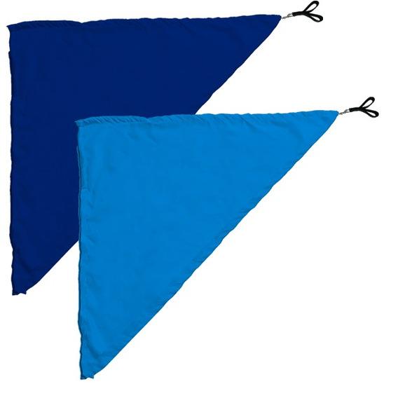 Swing Flag Triangular Azul Escuro E Azul Claro - 70cm X 70cm