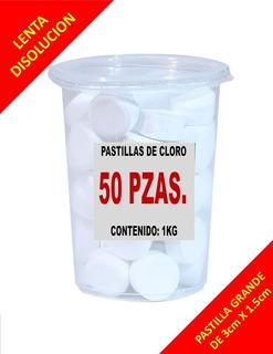 Pastillas De Cloro 1 Kg Con 50 Pzas- $$precio De Mayoreo $$