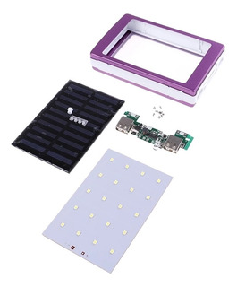 Kit Power Bank Solar Para 5 Pilhas - Painel 20 Led Desmont.