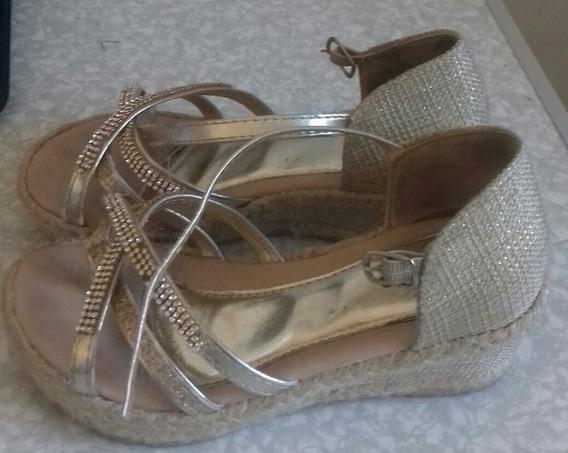 Sandália Para Meninas Dourada Luelua
