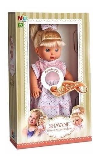 Boneca Shayane Fala 62 Frases Milk Brinquedos Meninas