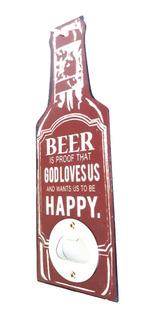 Destapador Beer Forma Botella Color Vino