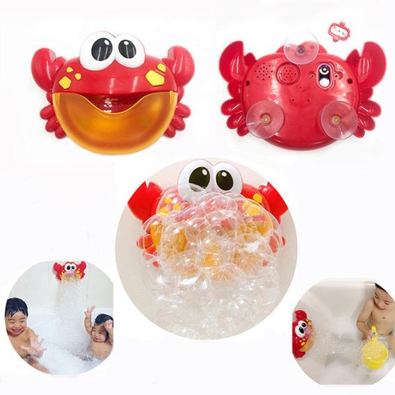 Cangrejo De Burbujas Para El Baño Para Niños-rojo
