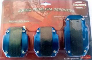 Juego De Pedalera De Aluminio Azul Metalizado