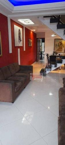 Imagem 1 de 28 de Sobrado Com 4 Dormitórios À Venda, 199 M² Por R$ 695.000,00 - Vila Junqueira - Santo André/sp - So1143