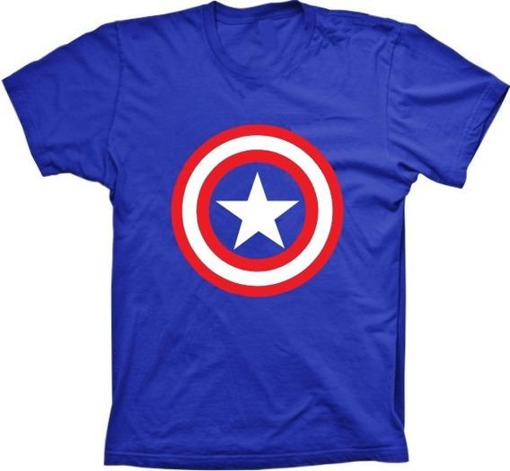Camisetas 4fun - Silk Super Herói Capitão América
