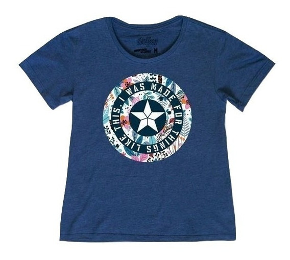 Playera First Avenger Logo Mujer Mascara De Latex Endgame