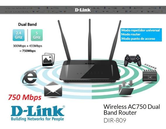 Router Doble Banda Modo Repetidora 750 Mbps Wi Fi D-link