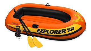 Lancha Inflable Intex Boat Set Explorer 300 Original 58332ep