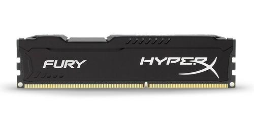 Memória Ram Hyperx Fury Black 4gb Ddr4 2400mhz Hx424c15fb/4 Kingston
