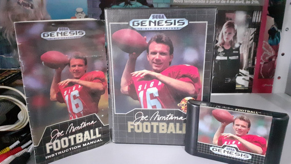 Joe Montana Football Sega Genesis Original