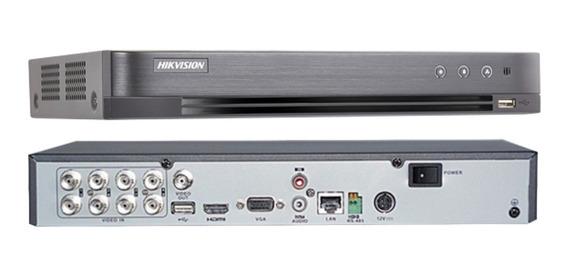 Dvr Hikvision Turbo Hd 8 Canais 3mp 4.0 Ds-7208hqhi-k1