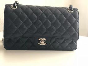 Bolsa Chanel 2.55 (média) Couro Caviar Original Na Caixa