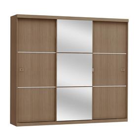 Guarda-roupa Casal Kappesberg Com Espelho 3 Portas De Correr