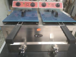 Freidora Industrial Eléctrica Doble 24l Acero Inox Msi
