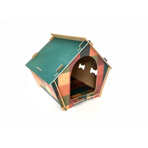 Casa Mdf Impresso Xadrez Com Této Azul - 2g Acessórios