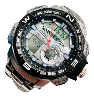 Reloj Casio Resistente Al Agua Doble Hora