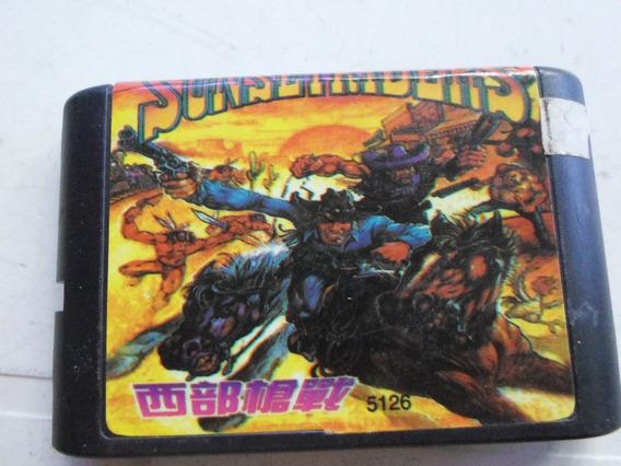 Cartucho Sunset Riders Para Mega Drive