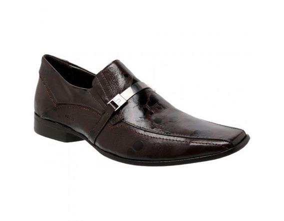 Sapato Social Masculino Couro Astúrias Brown 466004 - Frete Grátis