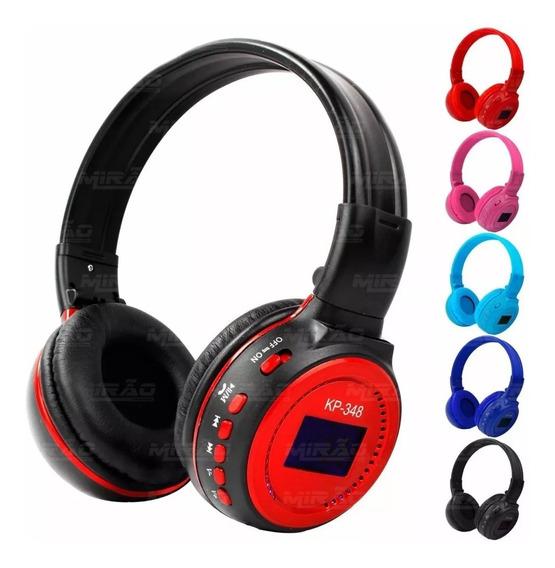 Fone De Ouvido Bluetooth Com Rádio Fm E Micro Sd - Kp-348