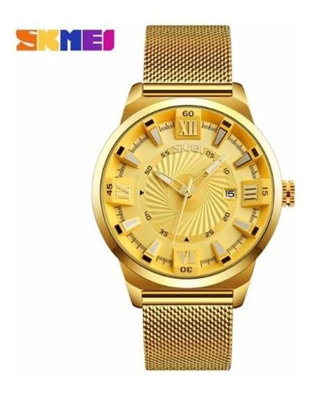 Relógio Elegante Skmei 9166 À Prova Dágua Frete Grátis