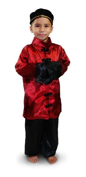 Disfraz Traje Chino Niño Talla 2 A La 12