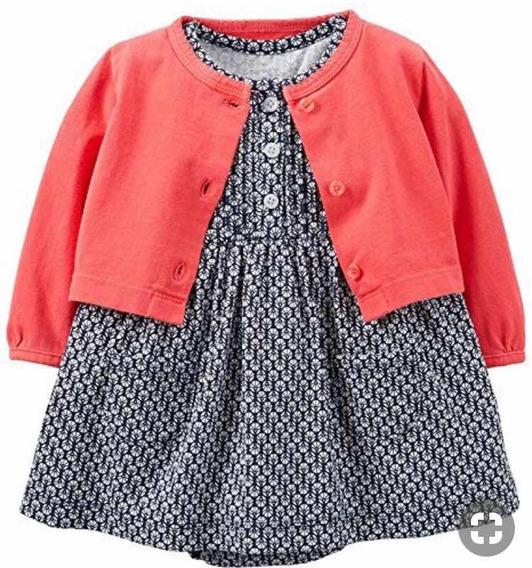 Conjunto Carters 2 Piezas Niña Bebé Vestido Y Ensamble